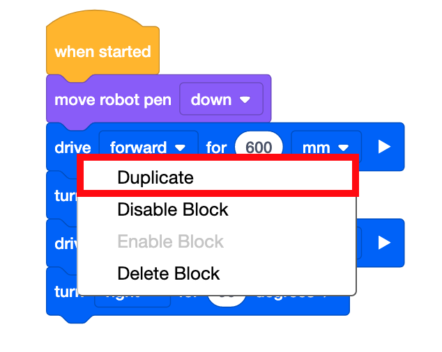duplicate two blocks