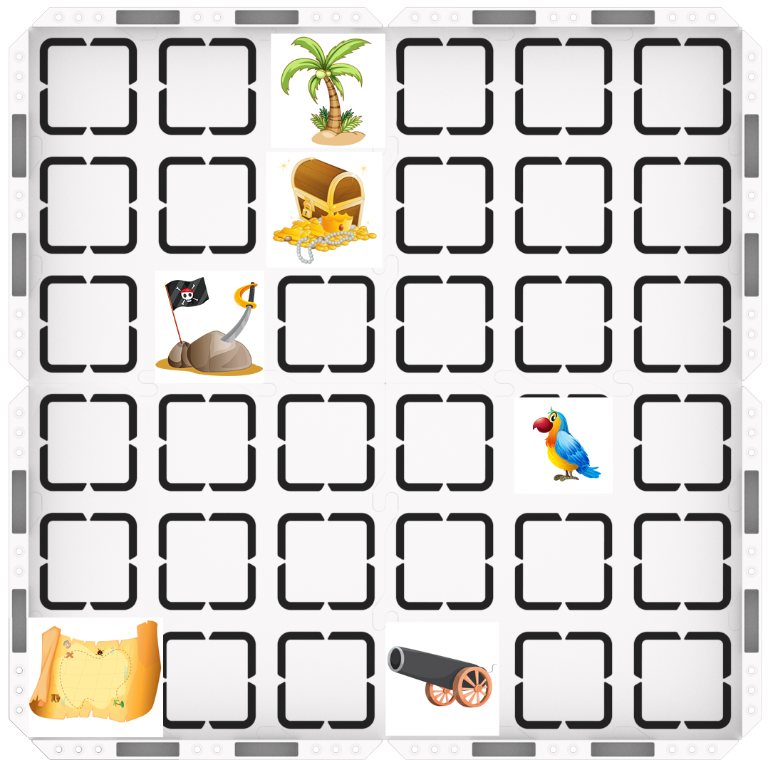 Image of Treasure Map setup on 123 Tile Field